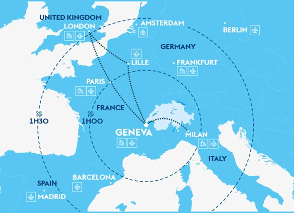 travel trade Geneva map